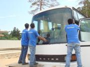 замена стекла на автобусе